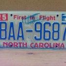 2013 North Carolina License Plate Tag NC #BAA-9687 LTQ
