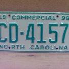 1998 North Carolina NC Truck License Plate  #CD-4157