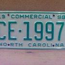1998 North Carolina NC Truck License Plate  #CE-1997