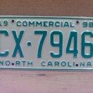 1998 North Carolina NC Truck License Plate  #CX-7946