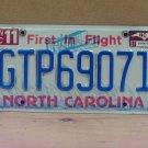 1997 North Carolina NC Global Transpark License Plate Tag #GTP69071