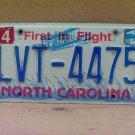 2008 North Carolina NC License Plate LVT-4475 LTQ