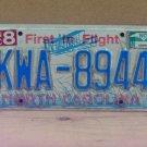 2010 North Carolina NC License Plate KWA-8944 LTQ