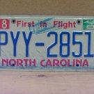 2003 North Carolina NC License Plate PYY-2851 LTQ