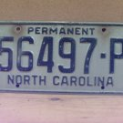 1970s North Carolina Permanent License Plate NC #56497-P