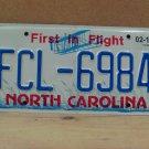 2019 North Carolina License Plate NC FCL-6984