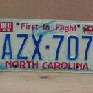 1984 North Carolina Passenger YOM License Plate EX NC AZX-707