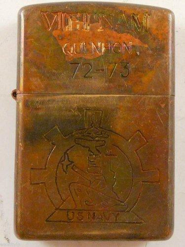 Vietnam War vintage cigarette cigarettes lighter lighters case 72 73 US NAVY 2D