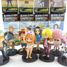 one piece figure FIGURES SET 8 PCS LUFFY nami Franky JAPAN COLLECTION zoro tony