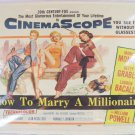 Marry Millionaire Poster Movie Monroe Marilyn W Print Oscar Statue Photo Pw3 Hot