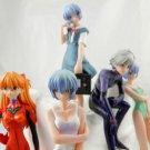 neo NEON genesis evangelion figure rei ayanami asuka JAPAN ainme 5 PCS mari rare
