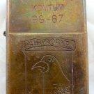 Vietnam War vintage cigarette cigarettes lighter lighters case 66 67 airborne ha
