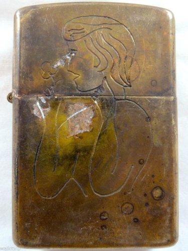 Vietnam War vintage cigarette cigarettes lighter lighters case 64 65 SIDE GIRL