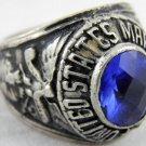 ring vietnam era military war gear collectibles SIZE 9.5 USMC Marine Corp Blue a