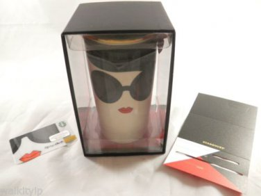 2015 Alice Olivia Starbucks Face Mug Stace 12 Oz Double New Traveler Wall Card