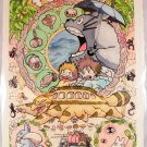 Poster Totoro Ghibli My Neighbor Japanese Promo Movie Cd Miyazaki Anime paper a