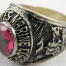ring vietnam era military war gear collectibles SIZE 9.25 Red US Marine Corp. a
