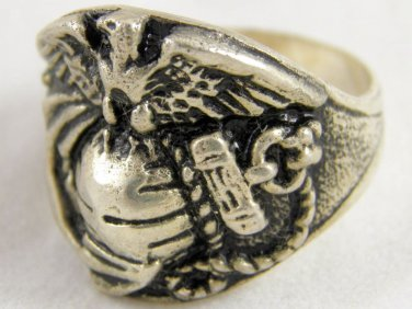 ring vietnam era military war gear collectibles SIZE 9.5 Air Eagle Sliver rings