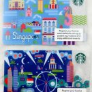 Singapore Starbucks Card Sleeve Gift 2013 Sample Cards New Blue city collector a