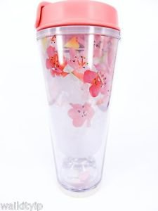 Starbucks Sakura Tumbler Travel Mug Cherry 2016 HK 12oz New Traveller Cup Hong a