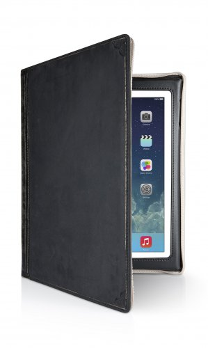 Twelve South Vintage Leather Ipad Cover Genuine Case black New BookBook Book