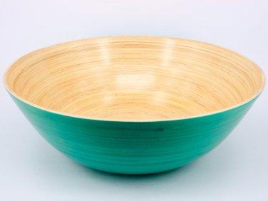 Salad Bowl Bamboo Set Serving New Large Piece Bowls Wood International Server...