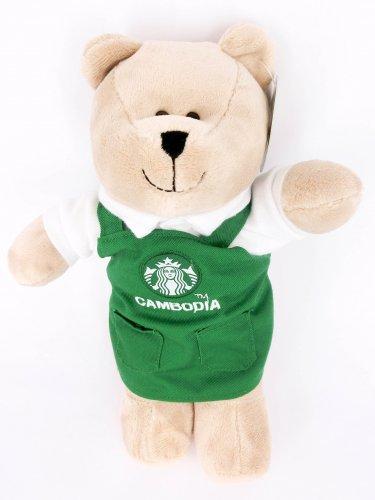 Starbucks Cambodia Bearista Bear Edition Nwt Plush Coffee New Green Apron Ted...