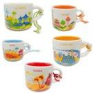 Starbucks Taiwan City Mug Yah You Here New Box Series Brand 2oz Ornament 5 pcs a