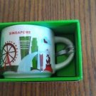 You Are Here Singapore cup mugs Starbucks Coffee YAH mug box ornaments a red 2oz