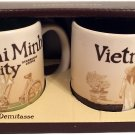 New Starbucks Coffee Set of 2 Demitasse Mugs City Collector Series Ho Chi Min...