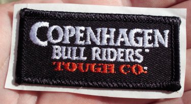 COPENHAGEN BULL RIDERS TOUGH COMPANY HAT STICKER CLOTH