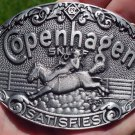 "COPENHAGEN SNUFF BUCKLE PEWTER COLOR FINISH ""NEW/UNUSED"""