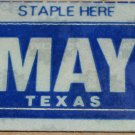 "TEXAS MONTH PLATE STICKER""MAY"""