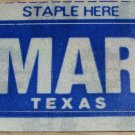 "TEXAS MONTH PLATE STICKER""MARCH"""