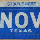 "TEXAS MONTH PLATE STICKER""NOVEMBER"""