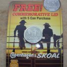 SKOAL 2 COWBOYS ON FENCE COMMEMORATIVE LID  NEW/UNUSED1993
