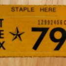1979 TEXAS PLATE RENEWAL STICKER