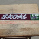 "VINTAGE '60-'70S SKOAL THIN METAL STRIP SIGN 24""LONG BY 3""TALL"