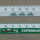 "2-COPENHAGEN SKOAL OUTDOORS/SKOAL OUTDOORS 24"" RULERS ADHESIVE STICKER"