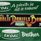 CLASSIC-VINTAGE SKOAL BUMPER STICKER SET (3) '83-84 NO WARNING LABEL