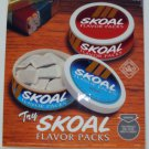 VINTAGE 1995 SKOAL FLAVOR PACK DOOR/COUNTER DECAL 6X7""