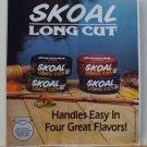"""VINTAGE 1987 SKOAL LONG CUT  DOOR/COUNTER DECAL 6X7"""""""