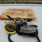 """COPENHAGEN  LID CUTTER PEWTER COLOR WITH LANYARD FOR KEY CHAIN """"NEW/UNUSED"""""""