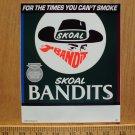VINTAGE SKOAL BANDIT WINDOW/ DOOR STICKER NEW 1990
