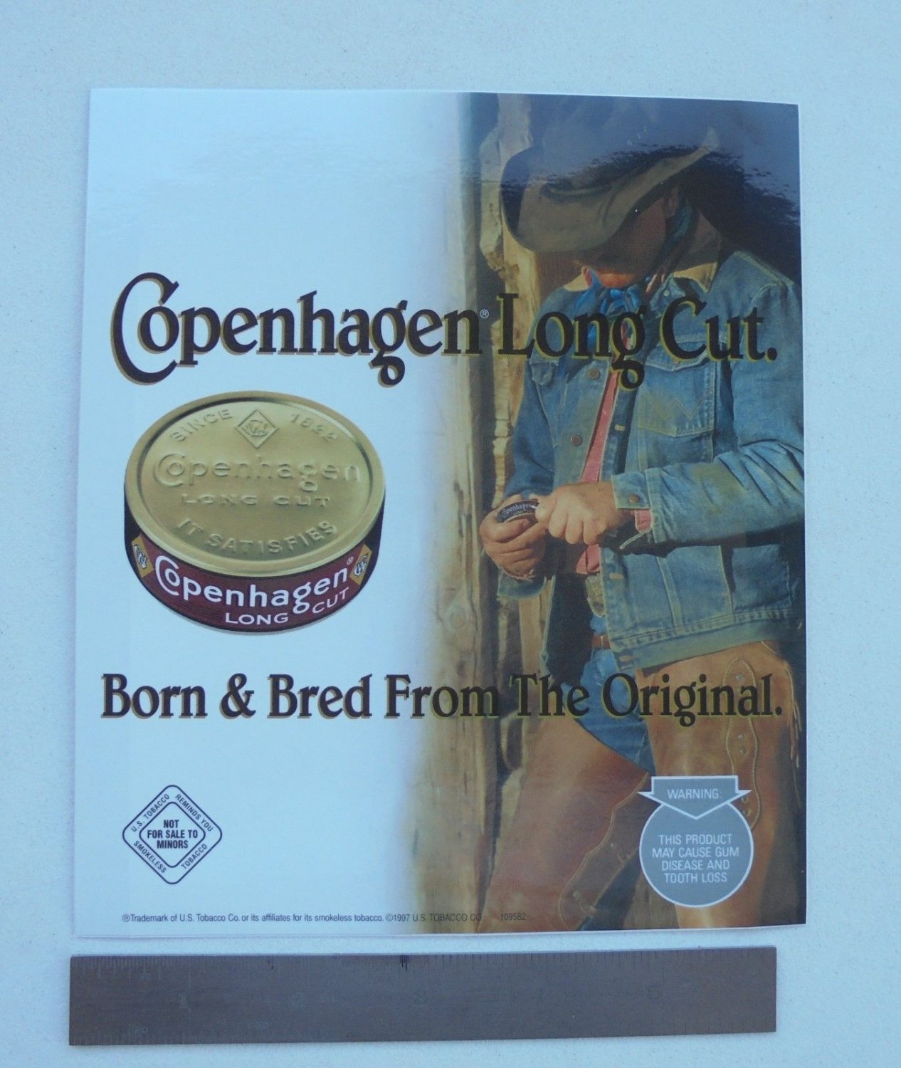 COPENHAGEN LONG CUT DOOR DECAL W/COWBOY