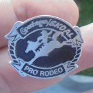 COOL COPENHAGEN/SKOAL PRO-RODEO HAT PIN PEWTER/BLACK INSET NEW