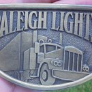 RALEIGH LIGHTS TRUCKER SEMI BELT BUCKLE NEW