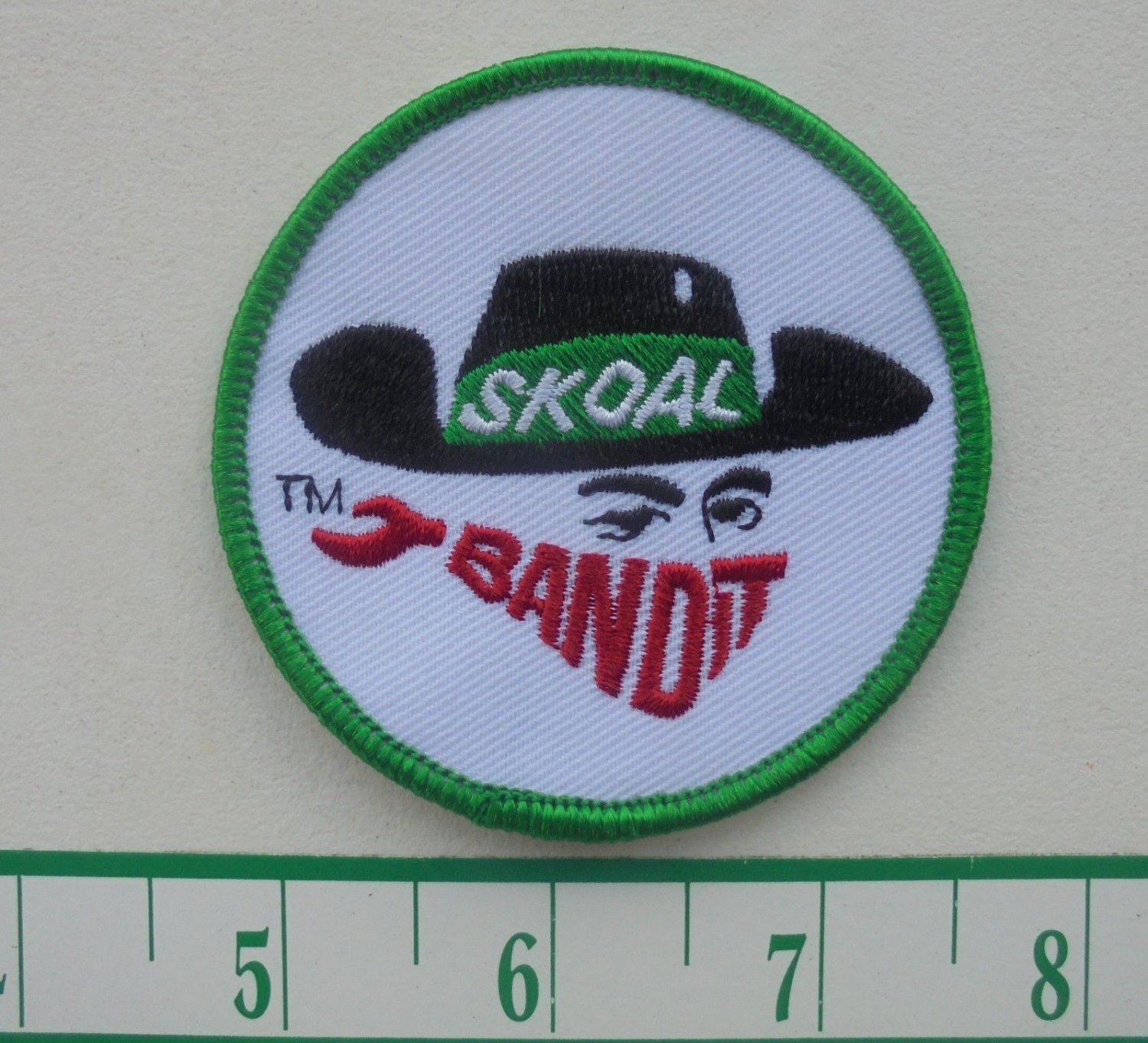 """RARE SKOAL BANDIT CLOTH PATCH IRON ON 3"""""""