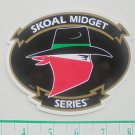 SKOAL MIDGET SERIES BANDIT ADHESIVE STICKER-RARE-BLACK BACKGROUND