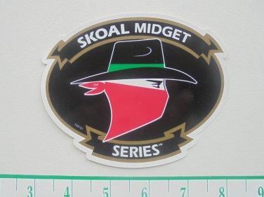 SKOAL MIDGET SERIES BANDIT ADHESIVE STICKER-RARE-BLACK BACKGROUND